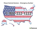 Poison control center - Emergency number