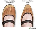 Proper fitting shoe